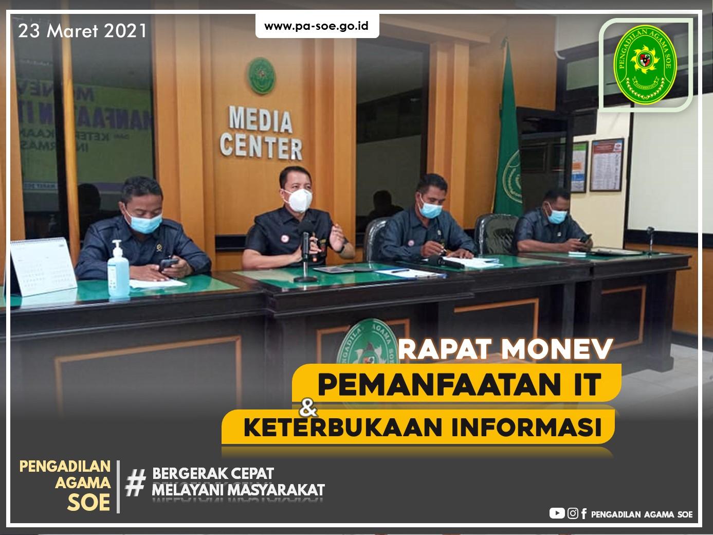 Rapat Monev Pemanfaatan IT dan Keterbukaan Informasi