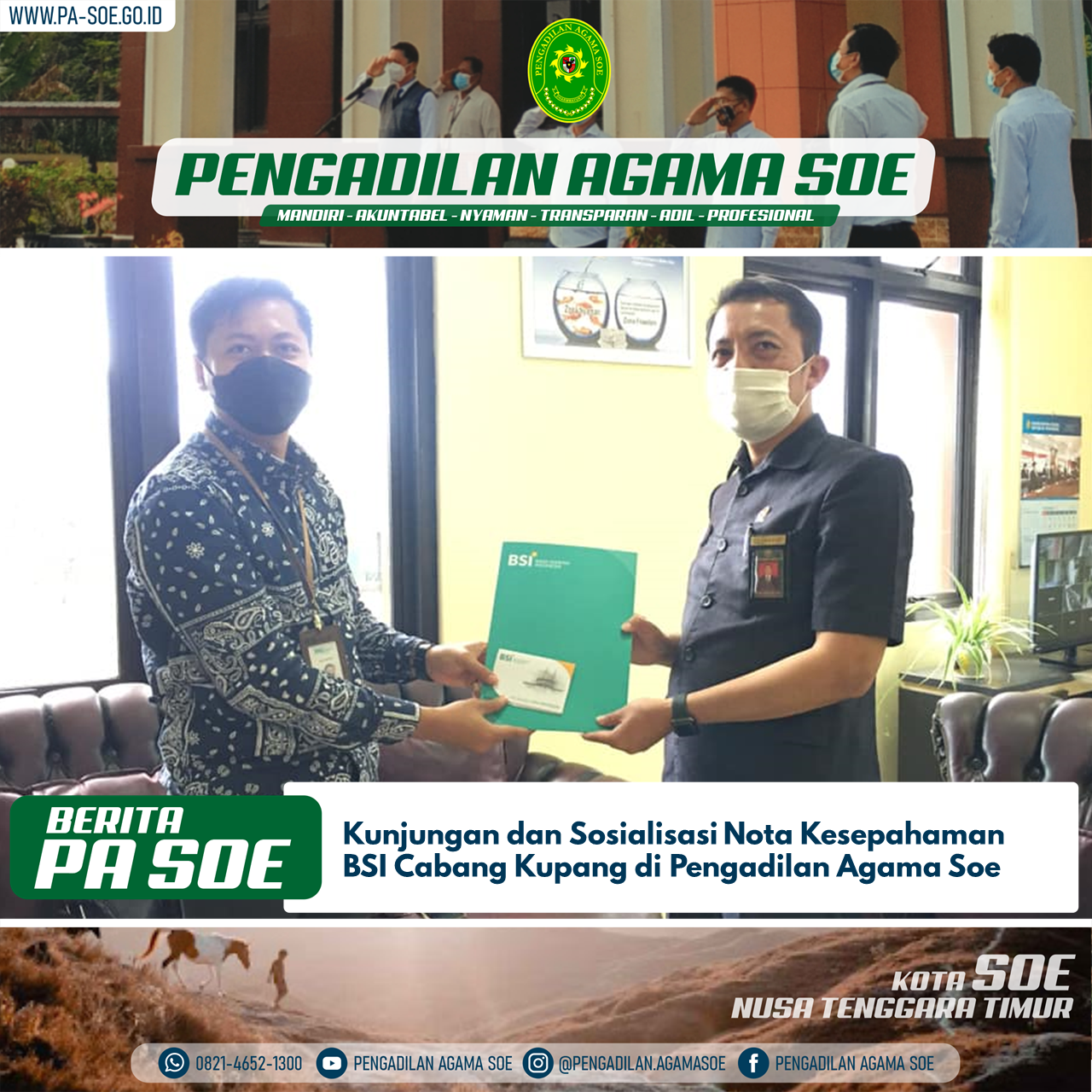 Bank Syariah Indonesia Cabang Kupang Berbagi Pengalaman dengan PA Soe