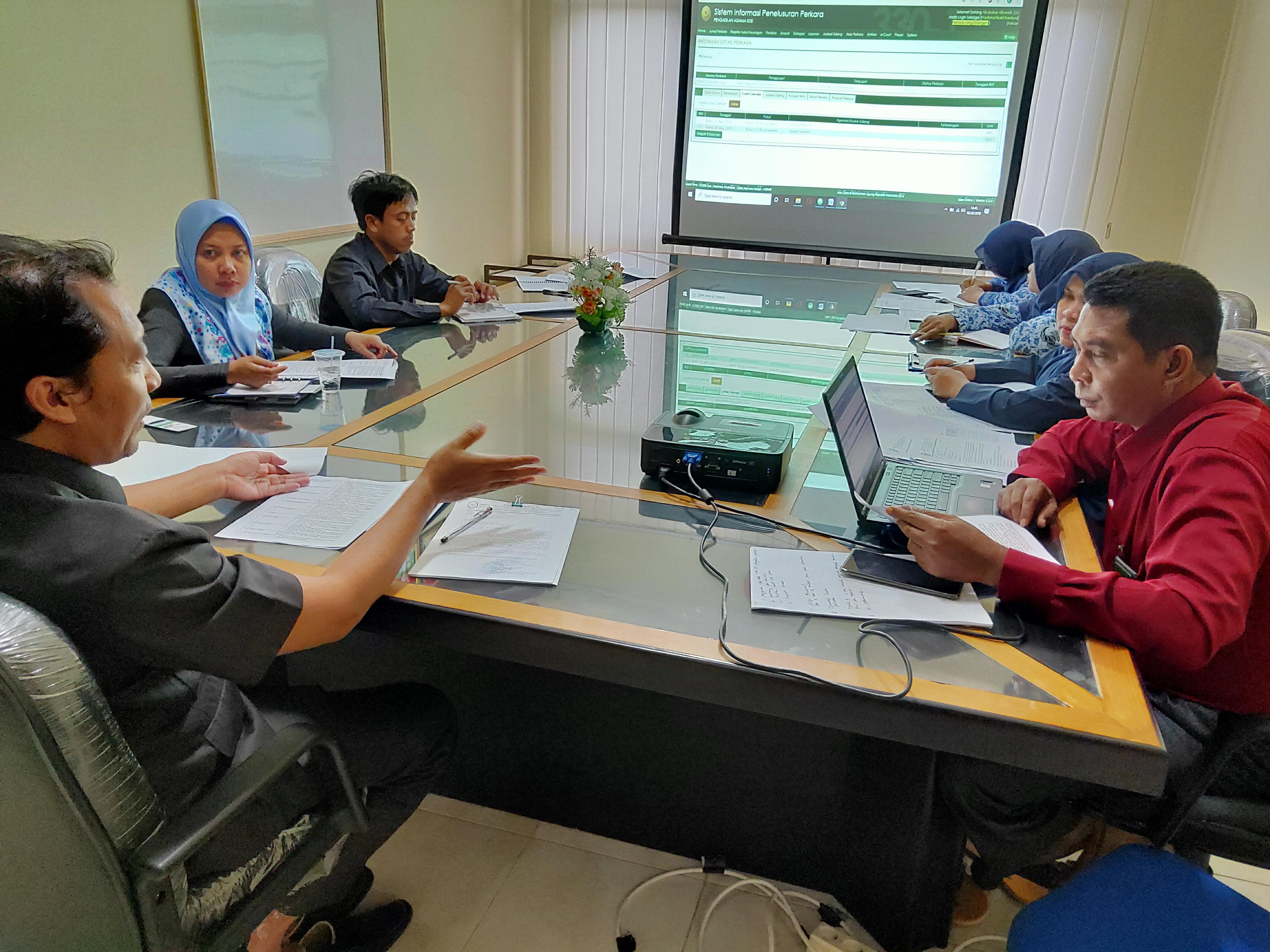 Rapat Evaluasi SIPP Bulan Oktober--2019
